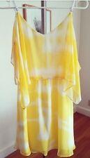 NWT bcbg yellow tie dye dress size small $98