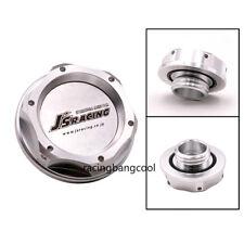J'S Racing Silver Aluminum Engine Oil Cap Oil Fuel Tank Cover Cap For Honda