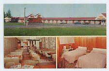 Motel Pignon Rouge Sherbrooke St MONTREAL QC Vintage Quebec Canada Postcard