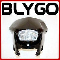 BLACK Universal MX Headlight PIT PRO TRAIL DIRT BIKE Motrocycle Motorcross