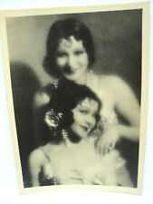PHOTO ANCIENNE ART DECO  DEUX JEUNES FEMMES (SOEURS) ARTISTES DE CIRQUE c. 1925