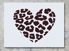 Leopard Print Heart Animal Wall Decal Art Sticker Picture