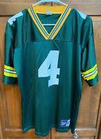Reebok Green Bay Packers Brett Favre # 4 Jersey Green Boys XL QB Quaterback Club