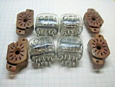 Lot of 4 Vintage IV-22 IV 22 IV22 SOVIET NIXIE VFD TUBE Yellow + socket Tested