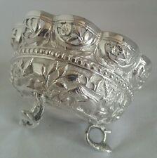 Antique Indian silver Bowl . Repoussè decoration depicting various animals.C1890