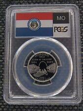 2003-S 25c Missouri SILVER State Flag Label Quarter Proof Coin PCGS PR70DCAM