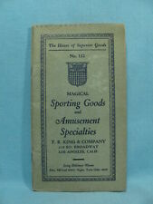 GAMBLING SUPPLY CATALOG w/ Cheating PLAYING CARDS, Loaded Dice, CRAPS Chuck Luck