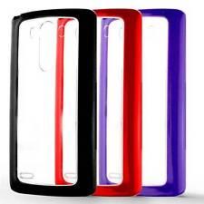 Hard shell cover case contour gel tpu lg optimus g3 d830 transparent