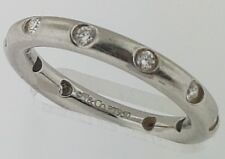 TIFFANY & CO~Platinum & Diamonds~BEZET~Eternity Band Ring~Flawless D-F Color~WOW