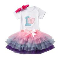 enfants bébé fille princesse robe cérémonie soirée miss Tulle Tutu habillé robes