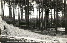 Salisbury MA Beach Road Grove Cabins Real Photo Postcard