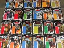 Star Wars Authentic card backs, action figures, and ammunition lot!