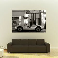"Poster of Porsche 550 Spyder Giant B&W Classic Sports Car Huge Print 54""x36"""