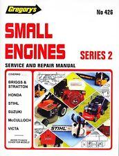 GREGORY'S REPAIR MANUAL SMALL ENGINES STIHL VICTA HONDA