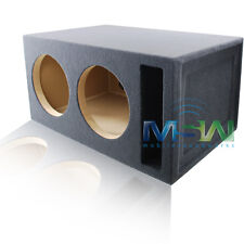 4.0 FT^3 TUNED @ 32Hz SLOT-VENTED CUSTOM MDF SUB ENCLOSURE for (2) 12-INCH SUBS