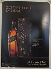 New Lot of 2 Store Display Paper Posters Johnnie Walker Black Label
