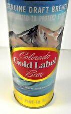Colorado Gold Label Tab Top - Clean & Bright - Walter Brewing - Pueblo, Colorado