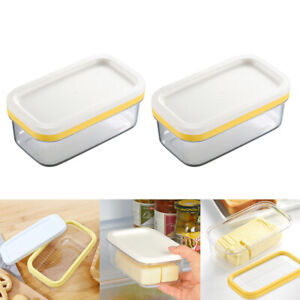 2pcs Butter Keeper And Slicer Cutter Storage Container Cheese Butter Box