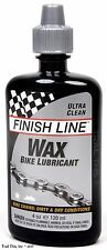 Finish Line 4oz Ultra-Clean Wax Bike Chain Lubricant Lube for Dry / Dusty Riding