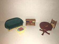 Mattel Fisher-Price Loving Family Dollhouse Lot LIVING ROOM Game Table Lot(20)