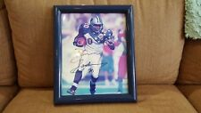 BARRY SANDERS AUTOGRAPHED PHOTO NFL PRO BOWL AUTOGRAPHED ALL STAR GAME HAWAII