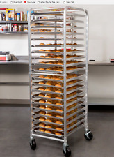 Commercial Kitchen 20 Sheet Bun Pan Bakery Rack Aluminum Oven Load Cart