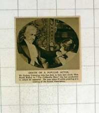 1920 Mr Sydney Valentine Popular Actor With Miss René Kelly