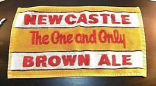 Vintage New Castle Brown Ale Golf Towel Woven Cotton
