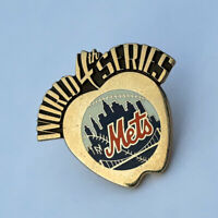 2000 New York Mets World Series Prototype Media Press Pin by Balfour Vintage