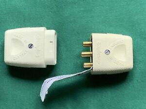 Duraplug Yellow - White 10Amp Lead Connector LCP103,3 Pin Plug Socket