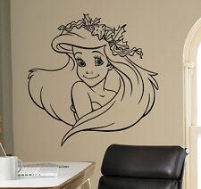 Disney Princess Ariel Vinyl Decal Mermaid Vinyl Sticker Cartoon Home Interior 8