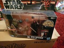 star wars DARTH MAUL with sith speeder BRAND NEW MINT IN BOX