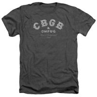 CBGB & OMFUG TATTERED LOGO Licensed Adult Heather T-Shirt All Sizes
