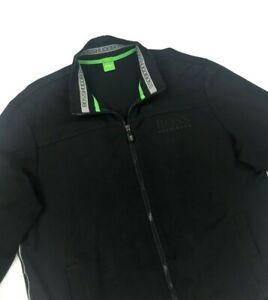 Men's Black Boss Hugo Boss Track Jacket XL Extra Large Modern Fit Skaz Zip A