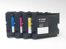 Sublimation GC21 4PK Ricoh Ink Cartridges for GX7000/GX5000/GX5050/GX3000/GX2500