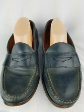 Mens Ralph Lauren Maine U.S.A Blue loafer career penny style vintage classic 9D