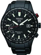 New Seiko Sportura GPS Solar World Time Perpetual Calendar Men's Watch SSF005