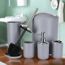 Bathroom Accessories Set Tumbler Toothbrush Dispenser Soap Dish Toilet Trash Can