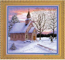 """""""church in the winter """"counted cross stitch kits"""