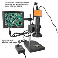 1080P HDMI USB Video Digital Industrial Microscope Camera C/CS Lens interface