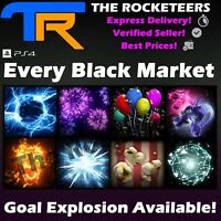 [PS4/PSN] Rocket League Every Black Market Goal Explosion Shattered Voxel Juiced