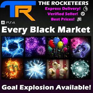 [PS4/PS5] Rocket League Every Black Market Goal Explosion Voxel Carbonator
