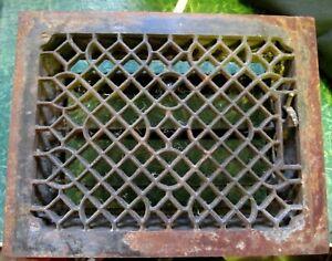 Vintage Antique Cast Iron Victorian Floor Heat Vent Grate Register Louvers 11x14