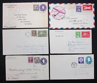 US Postal Stationery Six Covers Registered FDC Ganzsache 6 Briefe I-6453