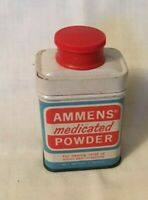Vintage Advertising Tin AMMENS MEDICATED POWDER 1ounce Tin