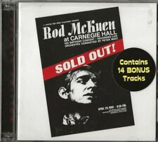ROD McKUEN SOLD OUT AT CARNEGIE HALL (1969) DOUBLE CD SIGNED  2013 BEAT POETRY