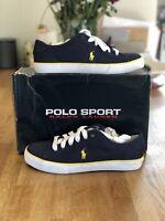 Ralph Lauren Polo Sport Mens Clifton Canvas Navy Shoes Trainers UK 9 Euro 43