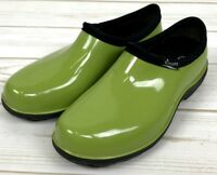 Sloggers Womens 6 USA Made Rain Gardening Waterproof Shoes Slip On Green A1816