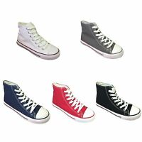 Women's Sneakers High Top Canvas Classic Lace Up Fashion Boots Shoes, Sizes:6-10