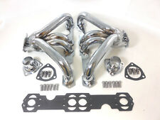Small Block Chevy SBC Super Shorty Headers Chrome Steel 1955 - 2001
